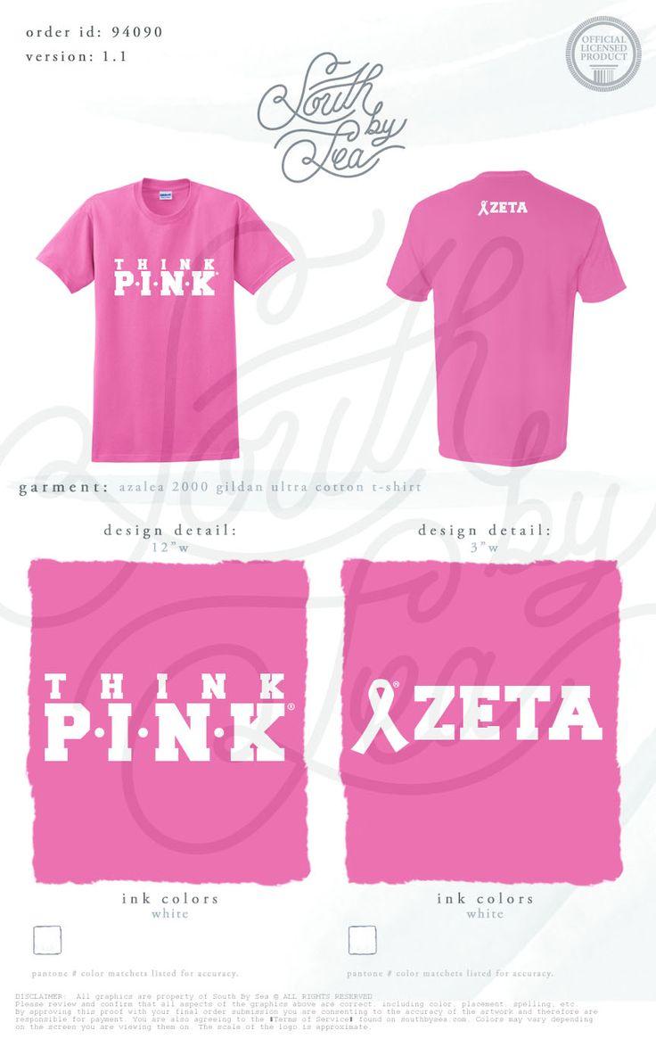 Think Pink   Zeta   ZTA   Zeta Tau Alpha   Breast Cancer Awareness   Philanthropy Tee Shirt Design   South by Sea   Greek Tee Shirts   Greek Tank Tops   Custom Apparel Design   Custom Greek Apparel   Sorority Tee Shirts   Sorority Tanks   Sorority Shirt Designs