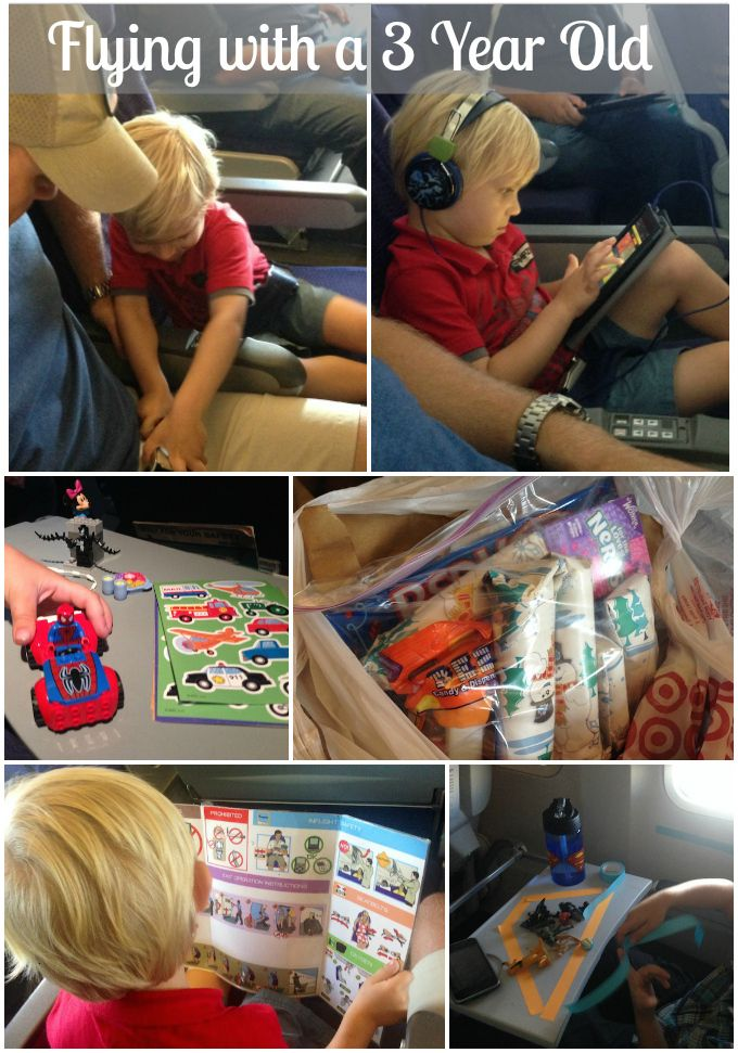 Flying with a 3 year old isn't easy! Check out these travel tips for airplane travel in that tricky stage between toddler and preschooler. | North of Something