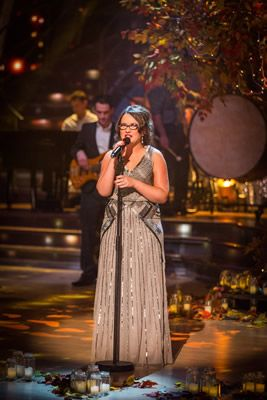 Winner Of The Voice Andrea Begley Entertains On The Strictly Come Dancing Results Show