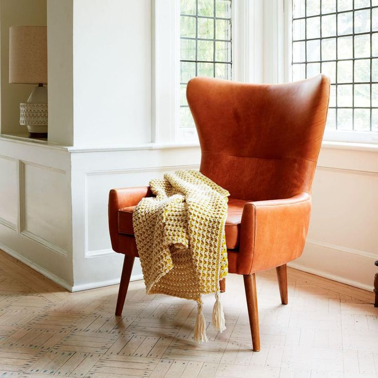 erik leather wing chair west elmwing