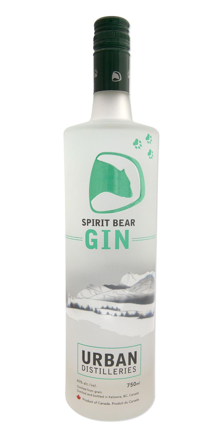 Spirit Bear Gin, Urban Distilleries, Kelowna, BC PD