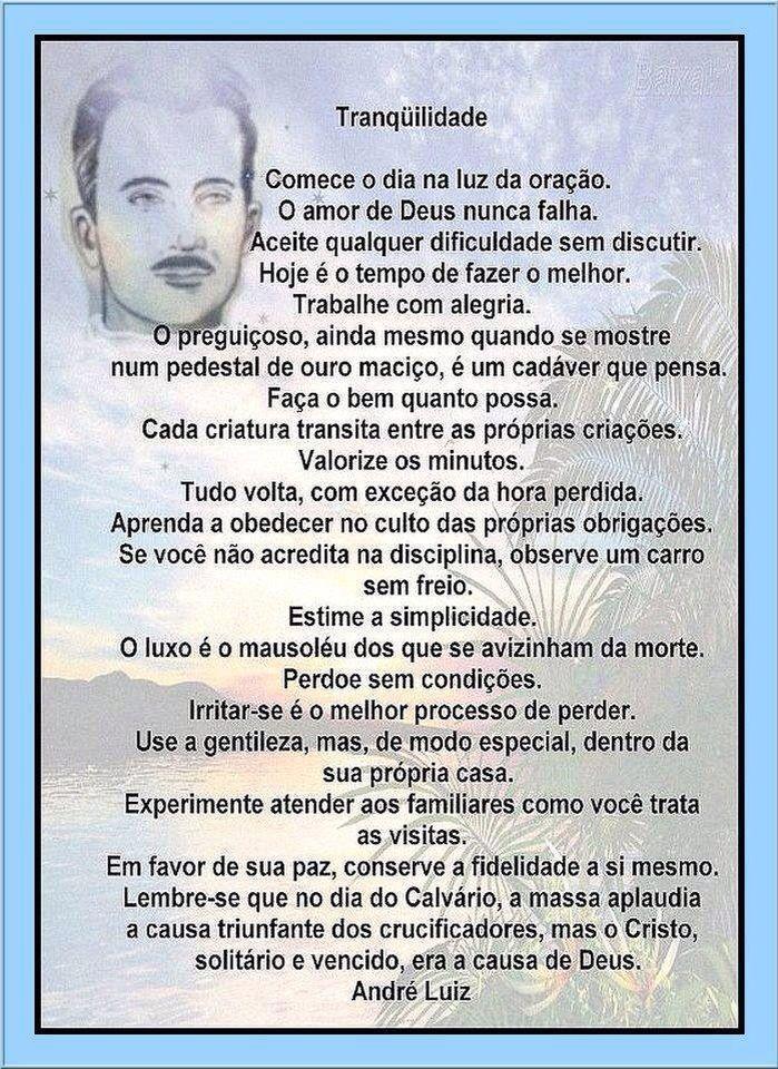 Muito o que aprender ainda... Chico Xavier - André Luiz