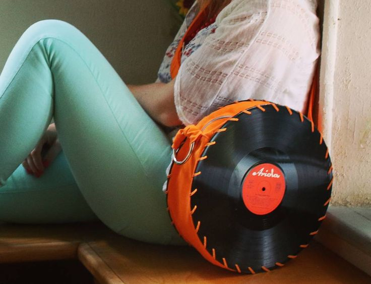 The Orange Songbag vinyl record bag www.thesongbag.com