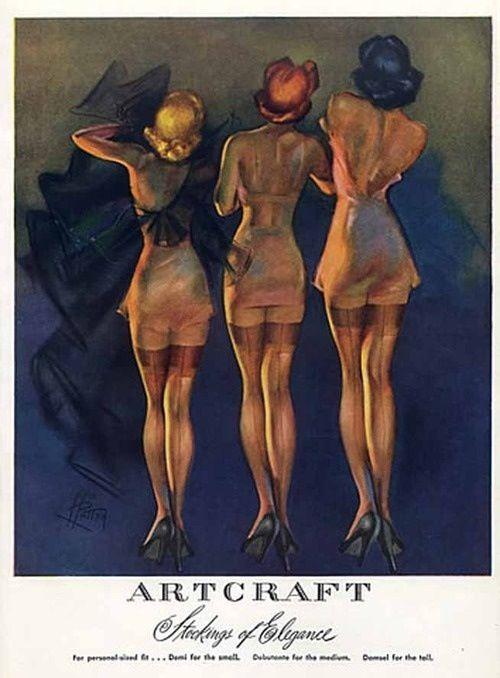 vintage silk stockings ad