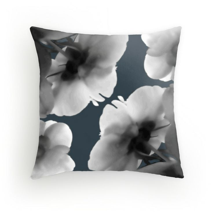 Radiant Flower Throw Pillow