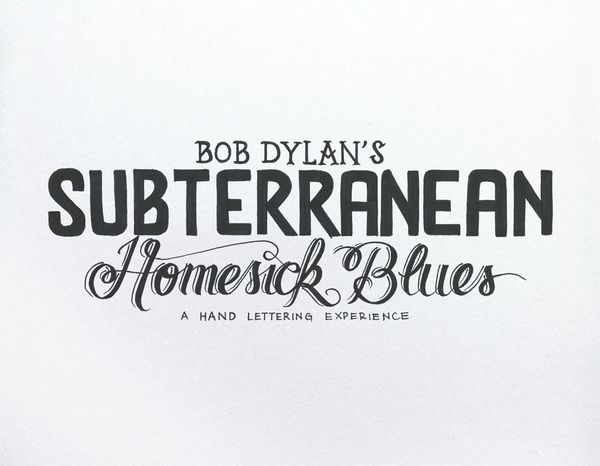 Bob Dylan´s HAND LETTERING EXPERIENCE by Leandro Senna, via Behance    - Link for the video inside -: Bobs, Hands, Lettering Experience, Bobdylan, Dylan O'Brien, Hand Lettering