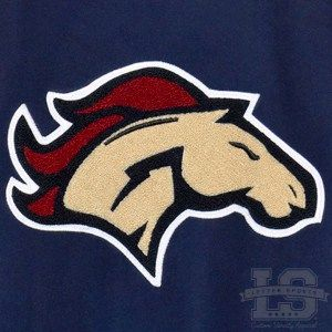 Bronco Mustang Chenille High School Letterman Patch