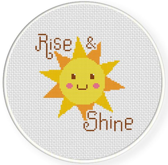 FREE for Oct 28th 2014 Only - Rise and Shine Cross Stitch Pattern
