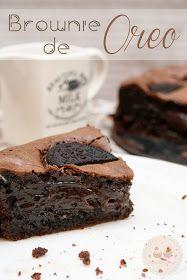 Brownie de Oreo increíble...
