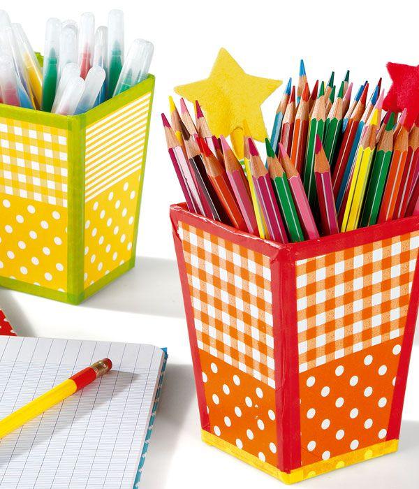 d corer un pot crayons en carton avec du papier d copatch collage et d copatch pinterest. Black Bedroom Furniture Sets. Home Design Ideas
