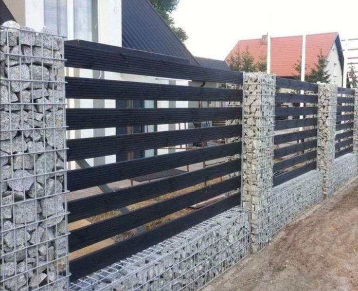 55 Fabulous Gabion Fence Design for Garden Landscaping Ideas