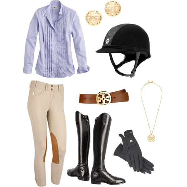 Simple riding outfit - Polyvore