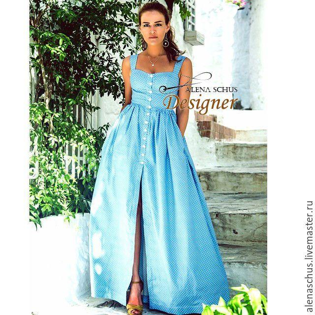 Купить Платье сарафан длинное в пол - белый, цветочный, платье длинное, длинное платье в пол