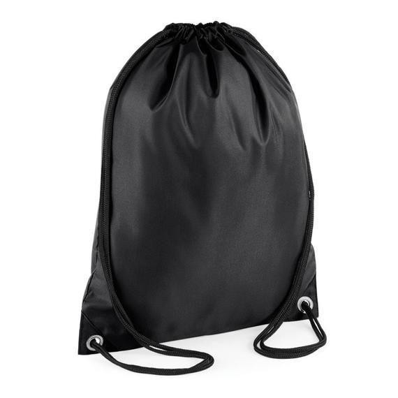 Personalised White Drawstring Bag Sack Gym PE Swim  School Print