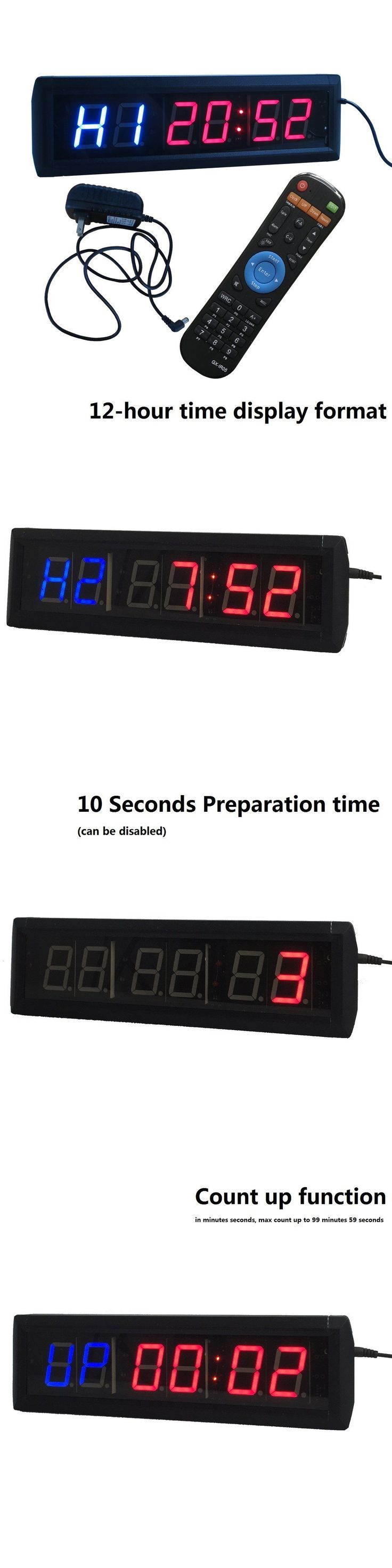 Stopwatches 166149: Crossfit Interval Timer Stop Watch Wall Clock Remote Control 14 X4 X1.5 Manage -> BUY IT NOW ONLY: $104.77 on eBay!