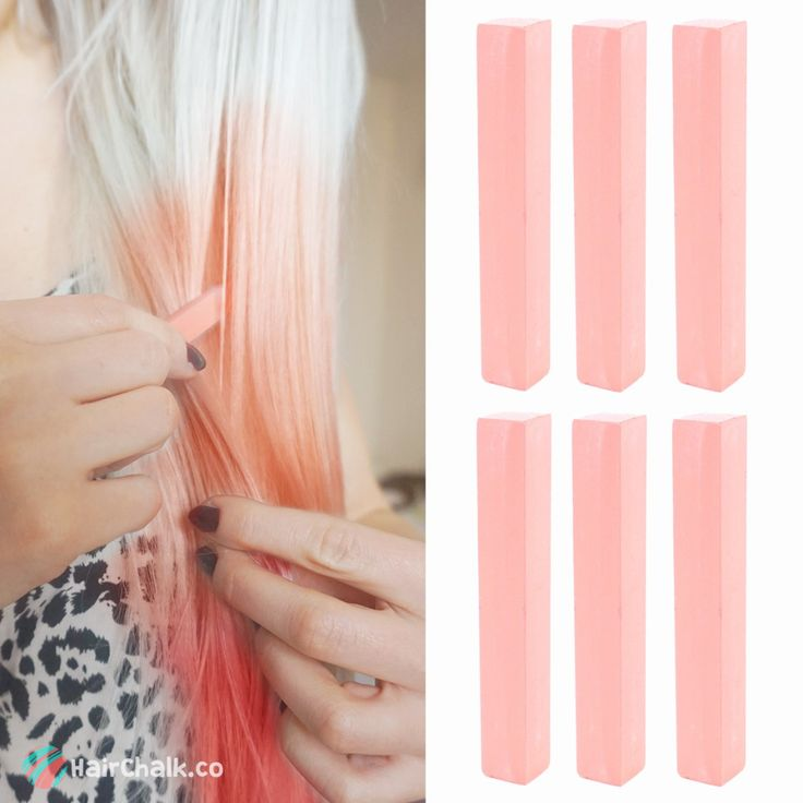 Dye your hair simple & easy to champagne pink hair color - temporarily use coral pink hair dye to achieve brilliant results! DIY your hair salmon pink with hair chalk