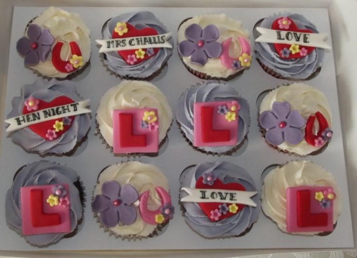 Hen do cupcakes - These cake were inspired by a design from The Clever Little Cupcake Company