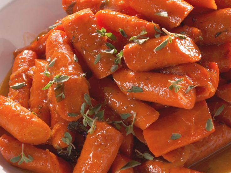 Glazed Carrots with Marjoram recipe from Nancy Fuller via Food Network