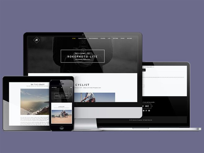 RokoPhoto Lite – Free Responsive Photography WordPress Theme