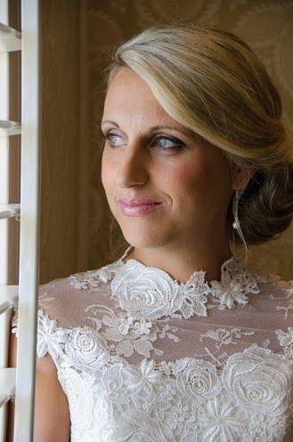 Side bun bridal hair by: Cecilia Fourie www.ceciliafourie.co.za