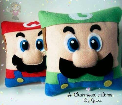 Mario & Luigi Pillows * No instructions available.