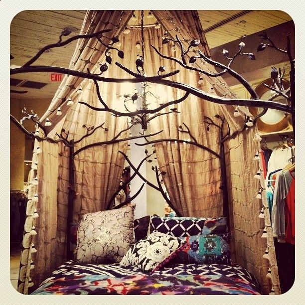 Forest Canopy Bed • I see this as a reading nook