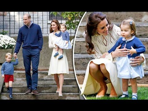 Princess Charlotte and Prince George enjoy petting zoo & puppet show in Canada