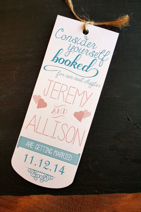 Save the Date Bookmarks No photo Vintage
