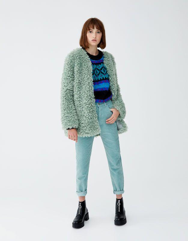 af1fcb49da08ce Straight fitilli kadife pantolon - PULL&BEAR | p^b in 2019 | Pull & bear,  Trousers, Corduroy