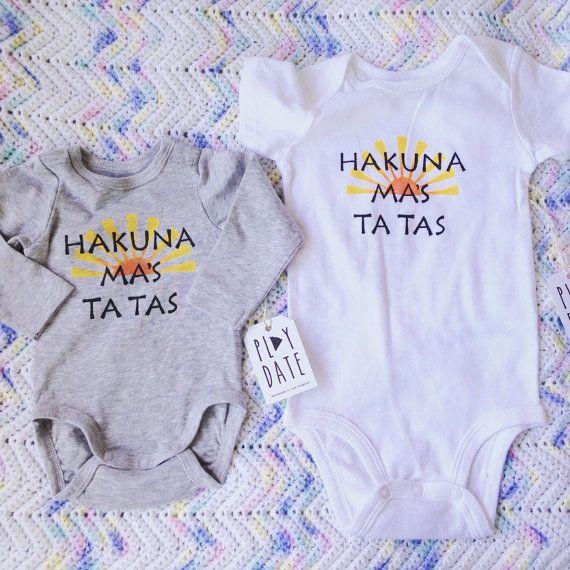 Organic Cotton Hakuna Ma's Ta Tas Onesie Funny by PlayDateApparel