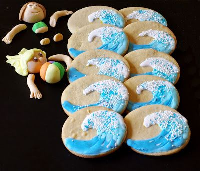 Wave cookies - withinthekitchen.blogspot.com