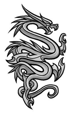 tribal dragon tattoo deanna hughes morgan could i do something like this around the leaf. Black Bedroom Furniture Sets. Home Design Ideas