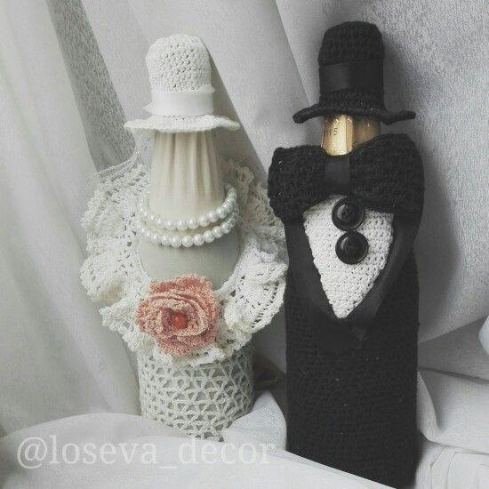 Молодожены в стиле ретро. Утонченные, интеллигентные и оригинальные. Эта милая пара замечательно украсит стол молодоженов. Ручная работа, сделанная с любовью и трепетом. Цену можно узнать, написав мне на эл. почту. #свадьбасаранск #свадьба #бутылкишампанскогонасвадьбу #свадебноешампанское #ручнаяработа #ретросвадьба #свадьбавстилеретро #лосевадекор #анналосева #лосеваанна