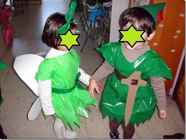 Disfraz se peterpan y campanilla con bolsa de basura verde las vendemos en http://www.multipapel.com/subfamilia-bolsas-basura-colores-para-disfraces.htm