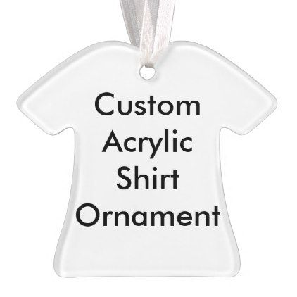 Design Your Own Custom Photo Shirt Ornament - monogram gifts unique design style monogrammed diy cyo customize