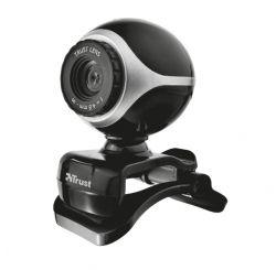 TRUST Exis USB mikrofonos #ezüst-fekete webkamera (17003)
