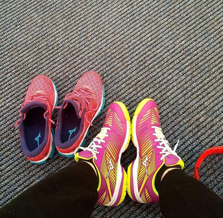 New collection of Mizuno shoes for @sofiashapatava ! Thank you @mizuno_tennis / @mizunorunning for your support!  #sponsorship #Mizuno @mizunoeurope @mizunosports #tennisshoes #runningshoes #neverstoppushing