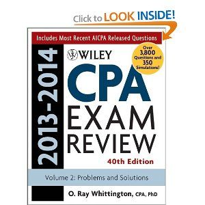 Wiley CPA Examination Review 2013-2014, Problems and Solutions (Wiley Cpa Examination Review Vol 2: Problems and Solutions) (Volume 2): O. R...