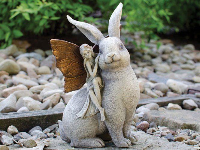 Garden Sculpture With Fairy Theme Gardening In Miniature Pinterest Jardins Sculptures De