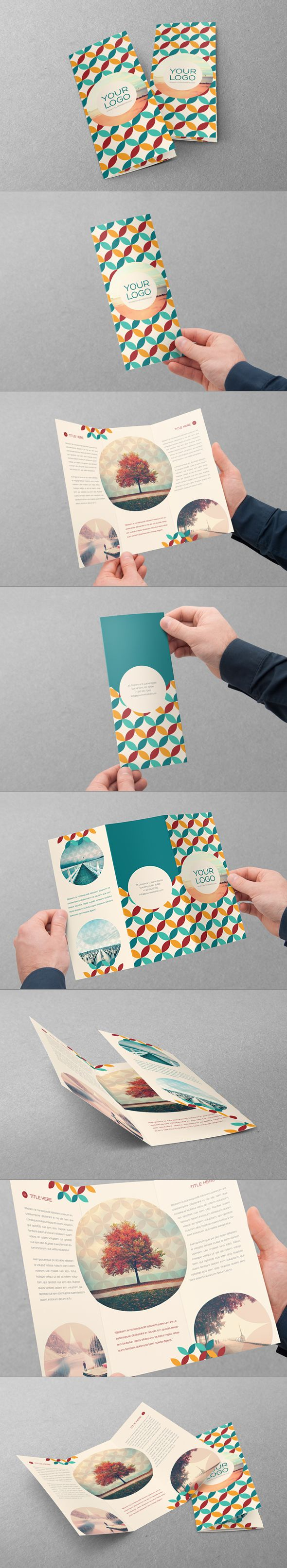 Retro Trifold by Abra Design, via Behance