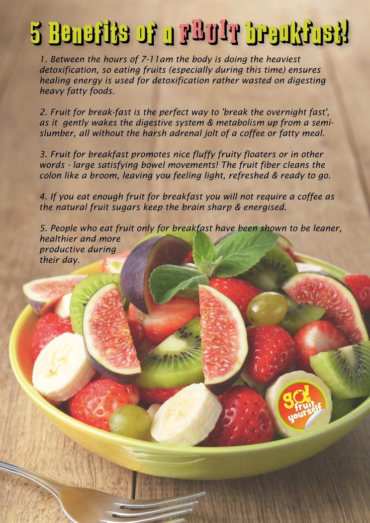 benefits of eating a fruit breakfast #rawfood