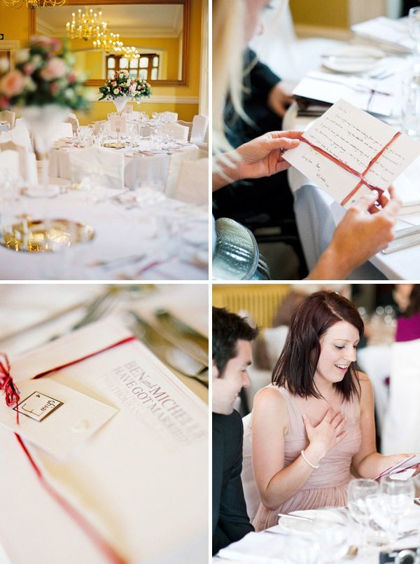 favours - handwritten notes to each guest in the same style as the wedding stationary! MUST DO.