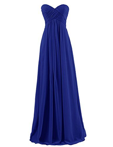 Dresstells® Sweetheart Bridesmaid Chiffon Prom Dresses Long Evening Gowns Royal…