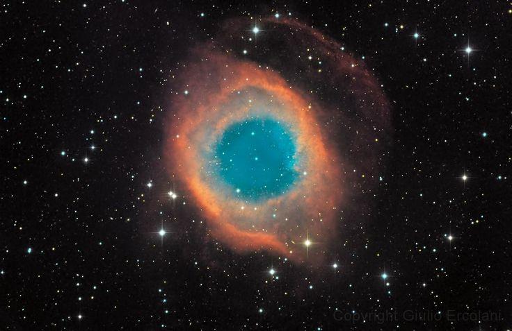 Туманность Улитка в созвездии Водолей / Helix Nebula  in the constellation Aquarius (NGC 7293, PK 36-57.1, ESO 602-PN22)