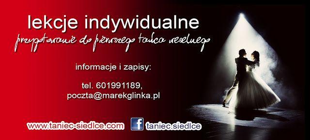 indywidualne lekcje tańca, m.in. przygotowanie do pierwszego tańca na weselu. Informacje i zapisy: http://www.taniec-siedlce.blogspot.com/p/pierwszy-taniec.html