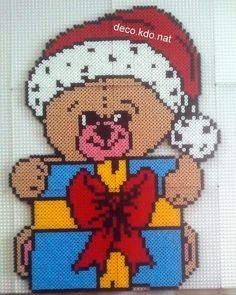 Teddy Christmas hama perler beads by deco.kdo.nat
