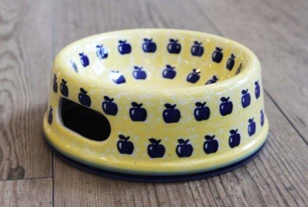 当店で密かな人気のペットボウル小型犬猫兼用  可愛いペット用イエローのペットボウルが仲間入り #ポーリッシュポタリー #ペット #ポーランド食器