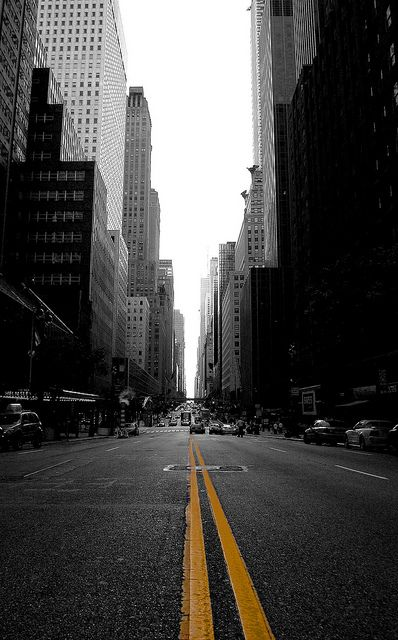 VISTA // New York City street by Shht!, via Flickr Print this pic out for Alyssa (room decor), dreams of going and there and being a star
