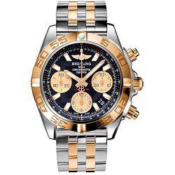 Mens Breitling Steel and Gold Chronomat 41 Watch CB014012/BA53-TT