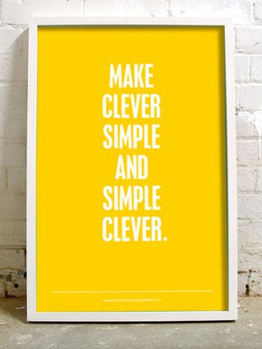 clever and simple